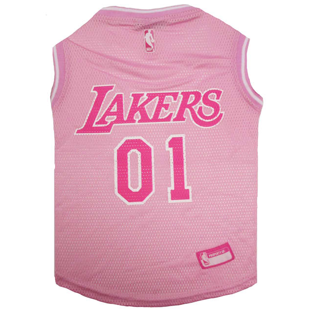 Pets First Los Angeles Lakers NBA Pink Jersey for Dogs, X-Small - Carousel image #1