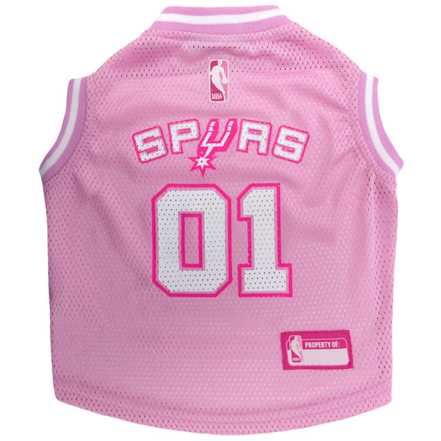 Pets First San Antonio Spurs NBA Pink Jersey for Dogs, X-Small - Carousel image #1