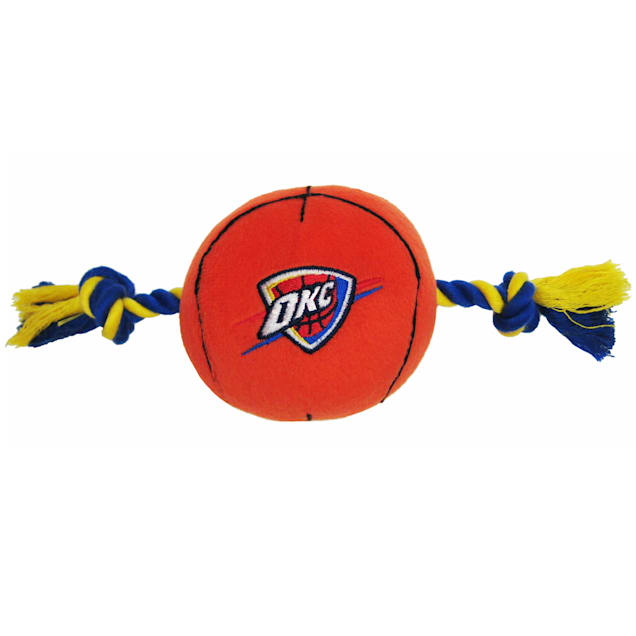 Pets First Oklahoma City Thunder NBA Plush Basketball Toy for Dogs, X-Large - Carousel image #1