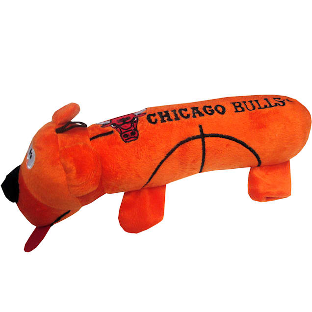 Pets First Chicago Bulls NBA Plush Bear Tube Toy for Dogs, Large - Carousel image #1