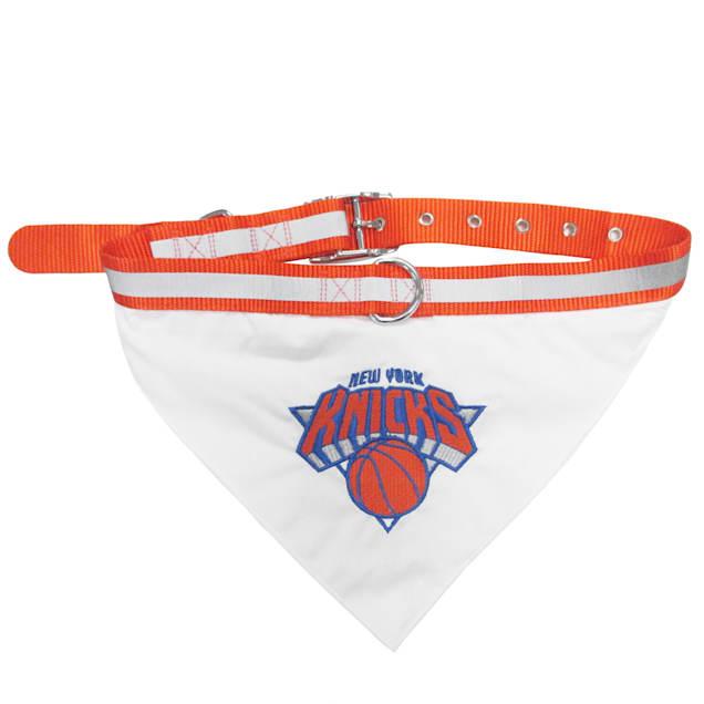 Pets First New York Knicks NBA Dog Collar Bandana, Small - Carousel image #1
