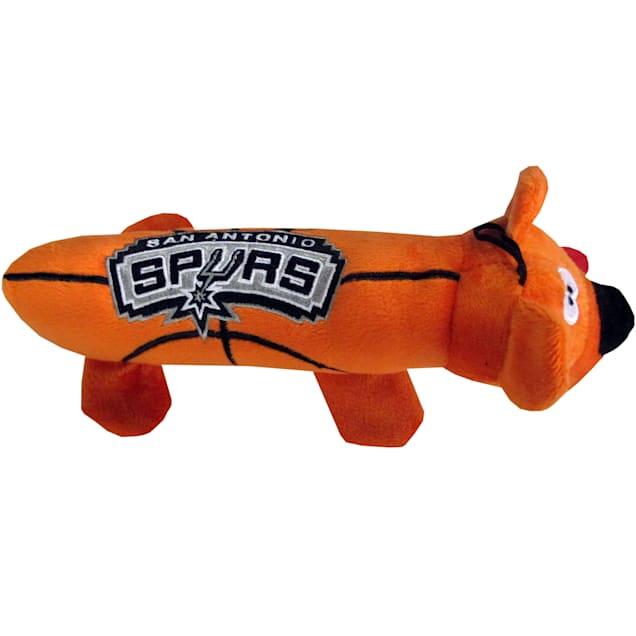 San Antonio Spurs NBA Plush Bear Tube Toy for Dogs, Large - Carousel image #1