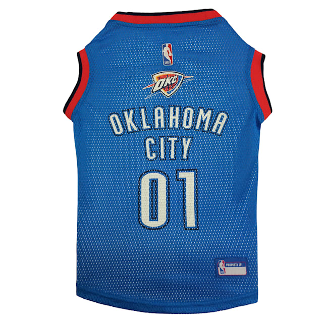 Pets First Oklahoma City Thunder NBA Mesh Jersey for Dogs, X-Small - Carousel image #1