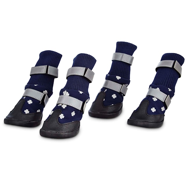 Good2Go All Weather Dog Boots in Blue, Medium - Carousel image #1