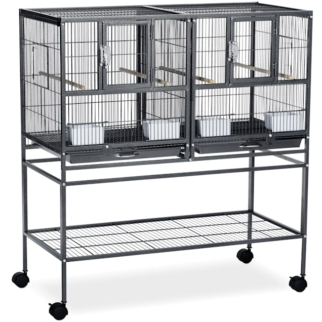 Prevue Pet Products Hampton Deluxe Divided Breeder Cage System with Stand - Carousel image #1