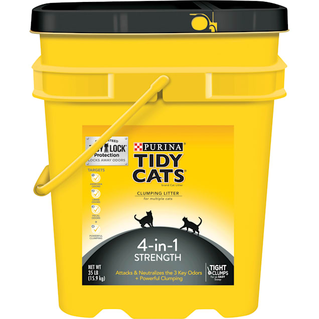 Purina Tidy Cats 4-in-1 Strength Clumping Multiple Cat Litter, 35 lbs. - Carousel image #1