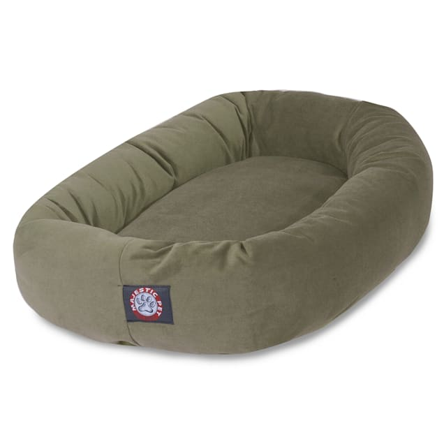 "Majestic Pet Sage Suede Bagel Dog Bed, 40"" L x 29"" W - Carousel image #1"