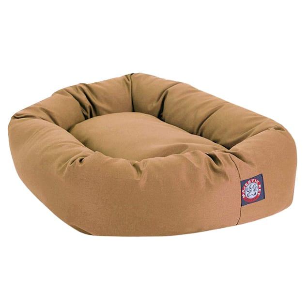 "Majestic Pet Khaki Bagel Dog Bed, 40"" L x 29"" W - Carousel image #1"
