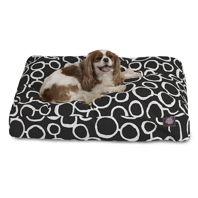 "Majestic Pet Black Fusion Shredded Memory Foam Rectangle Dog Bed, 36"" L x 29"" W - Carousel image #1"