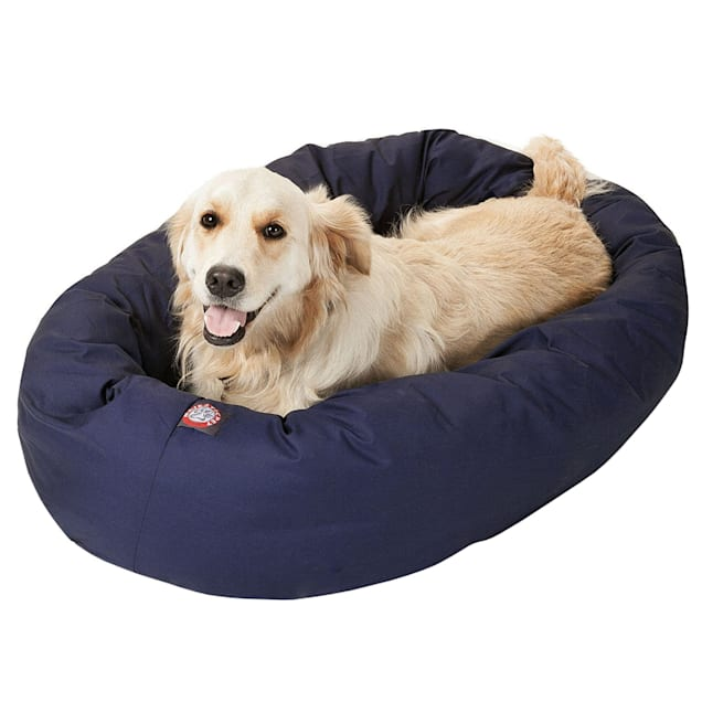 "Majestic Pet Blue Bagel Dog Bed, 40"" L x 29"" W - Carousel image #1"