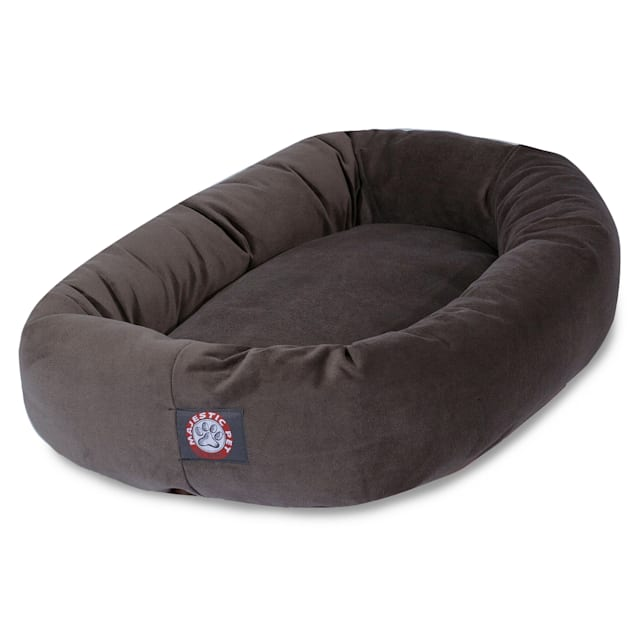 """Majestic Pet Chocolate Suede Bagel Dog Bed, 40"""" L x 29"""" W - Carousel image #1"""