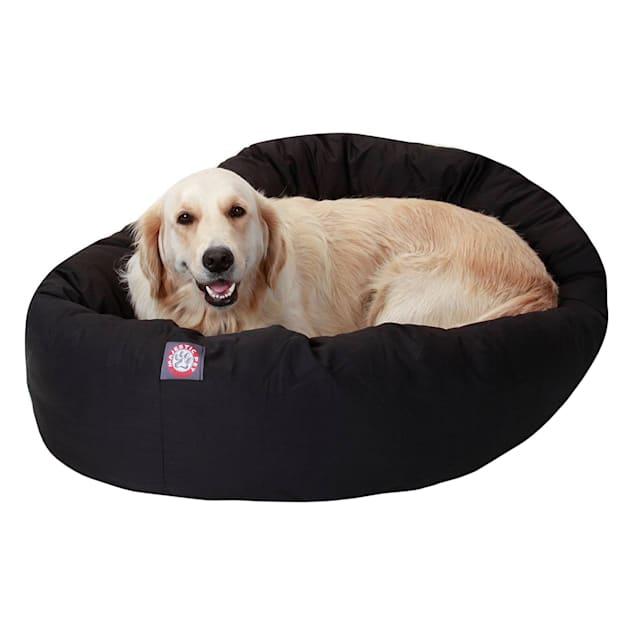 "Majestic Pet Black Bagel Dog Bed, 40"" L x 29"" W - Carousel image #1"