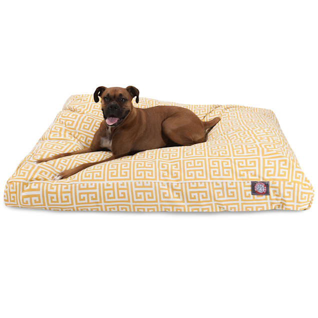 "Majestic Pet Citrus Towers Shredded Memory Foam Rectangle Dog Bed, 44"" L x 36"" W - Carousel image #1"