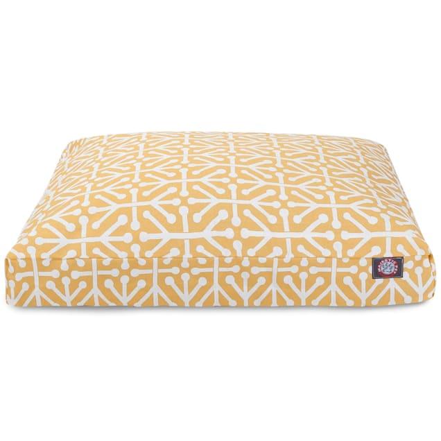 "Majestic Pet Citrus Aruba Shredded Memory Foam Rectangle Dog Bed, 44"" L x 36"" W - Carousel image #1"