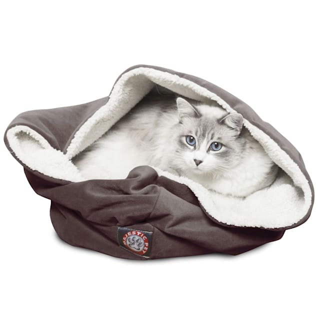 """Majestic Pet Chocolate Suede Burrow Bed, 17"""" L x 17"""" W - Carousel image #1"""