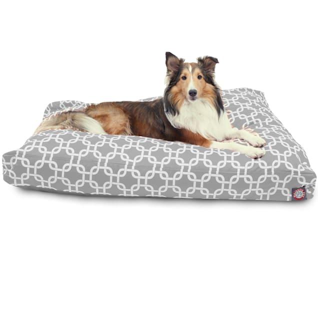 "Majestic Pet Gray Links Shredded Memory Foam Rectangle Dog Bed, 44"" L x 36"" W - Carousel image #1"