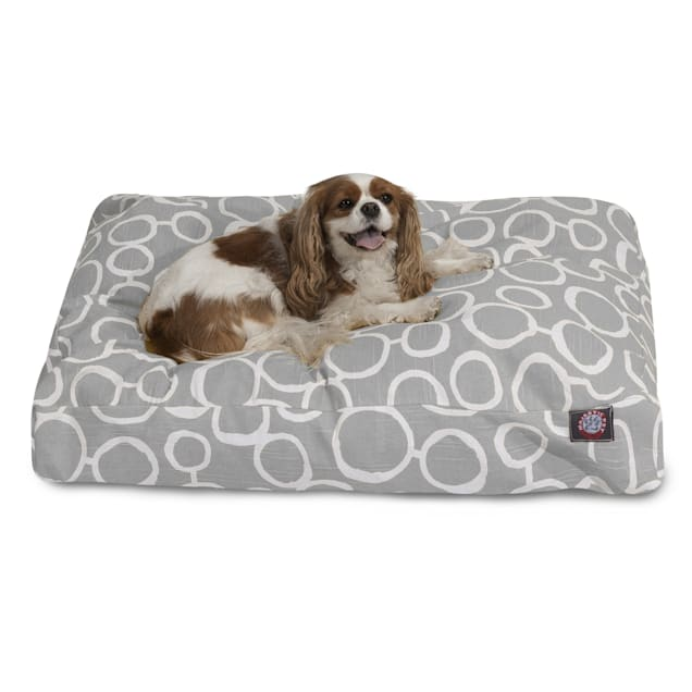 """Majestic Pet Gray Fusion Shredded Memory Foam Rectangle Dog Bed, 44"""" L x 36"""" W - Carousel image #1"""