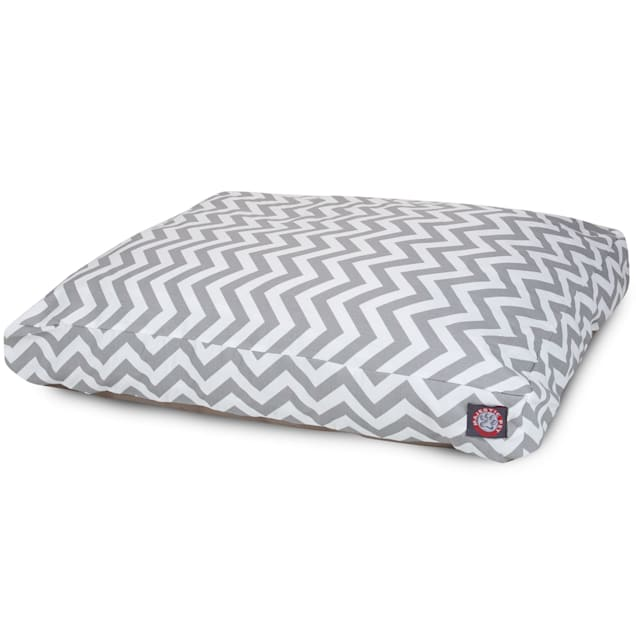 "Majestic Pet Gray Chevron Rectangle Pet Bed, 44"" L x 36"" W - Carousel image #1"