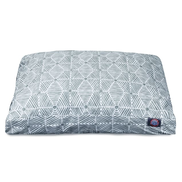 """Majestic Pet Gray Charlie Shredded Memory Foam Rectangle Dog Bed, 44"""" L x 36"""" W - Carousel image #1"""