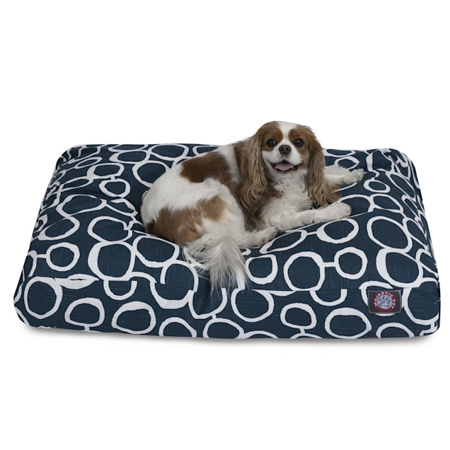 "Majestic Pet Fusion Navy Rectangle Pet Bed, 44"" L x 36"" W - Carousel image #1"