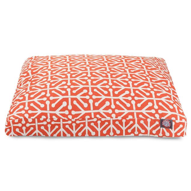 "Majestic Pet Orange Aruba Shredded Memory Foam Rectangle Dog Bed, 44"" L x 36"" W - Carousel image #1"