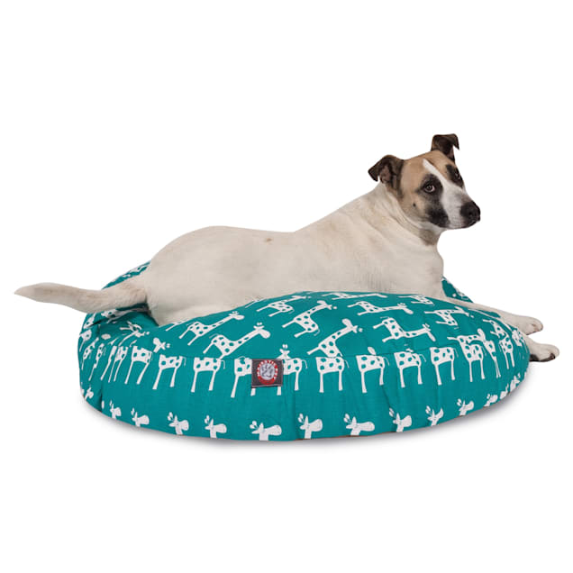 """Majestic Pet Stretch Turquoise Round Pet Bed, 42"""" L x 42"""" W - Carousel image #1"""
