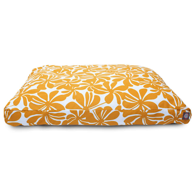 "Majestic Pet Yellow Plantation Shredded Memory Foam Rectangle Dog Bed, 44"" L x 36"" W - Carousel image #1"
