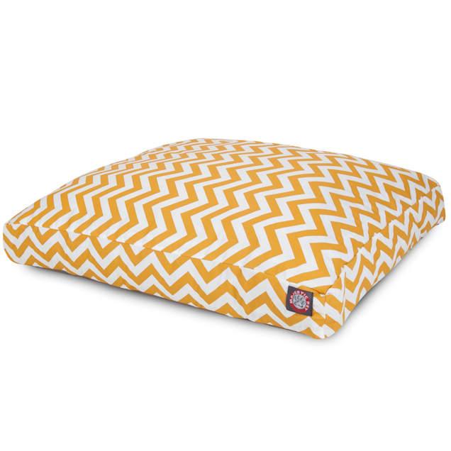 "Majestic Pet Yellow Chevron Shredded Memory Foam Rectangle Dog Bed, 44"" L x 36"" W - Carousel image #1"