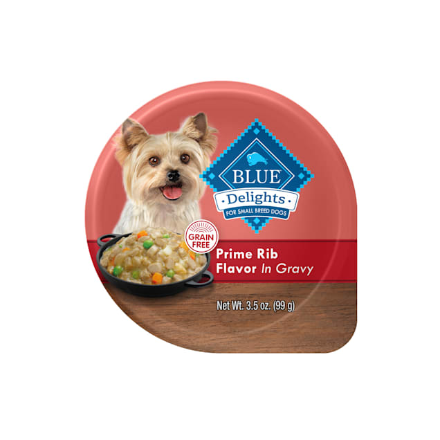 Blue Buffalo Blue Life Protection Delights Small Breed Prime Rib Flavor in Hearty Gravy Wet Dog Food, 3.5 oz., Case of 12 - Carousel image #1