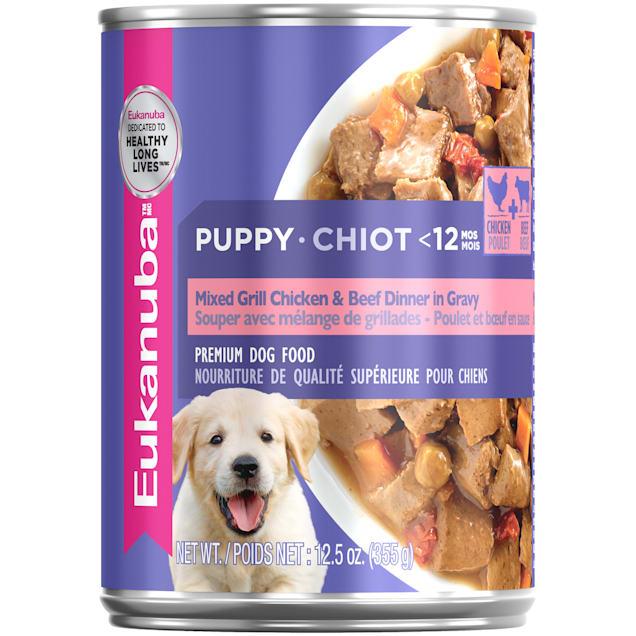 Eukanuba Puppy Mixed Grilled Chicken & Beef Dinner in Gravy Wet Dog Food, 12.5 oz. - Carousel image #1