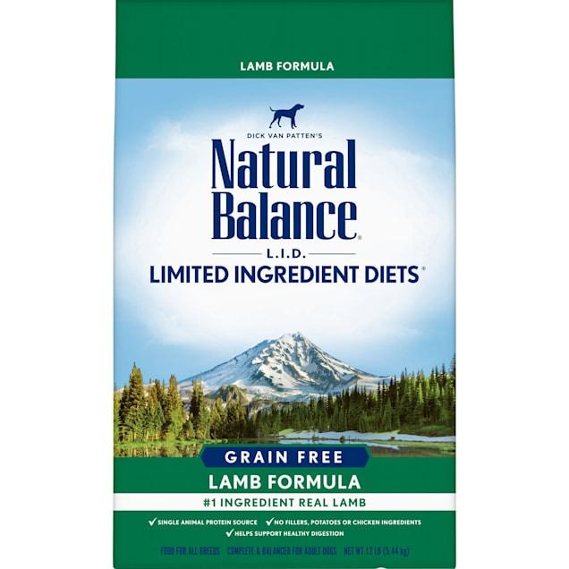 Natural Balance L.I.D. Limited Ingredient Diets Grain Free Lamb Formula Dry Dog Food, 12 lbs. - Carousel image #1