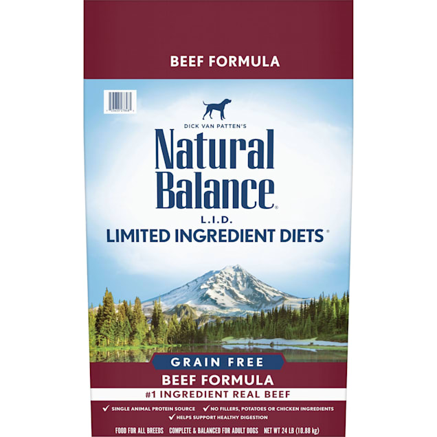Natural Balance Limited Ingredient Diet Grain Free Beef Formula Dry Dog Food, 24 lbs. - Carousel image #1