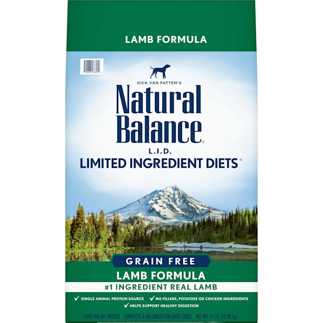 Natural Balance L.I.D. Limited Ingredient Diets Grain Free Lamb Formula Dry Dog Food, 24 lbs. - Carousel image #1