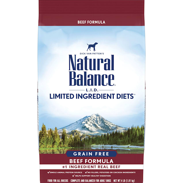 Natural Balance Limited Ingredient Diet Grain Free Beef Formula Dry Dog Food, 4 lbs. - Carousel image #1
