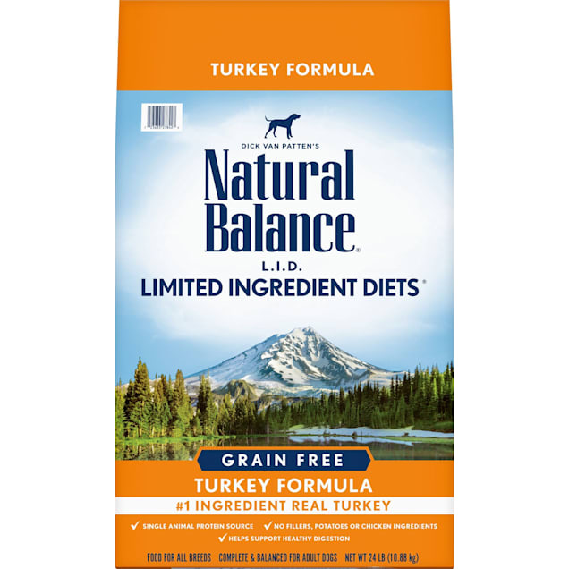 Natural Balance L.I.D. Limited Ingredient Diets High Protein Turkey Formula Dry Dog Food, 24 lbs. - Carousel image #1