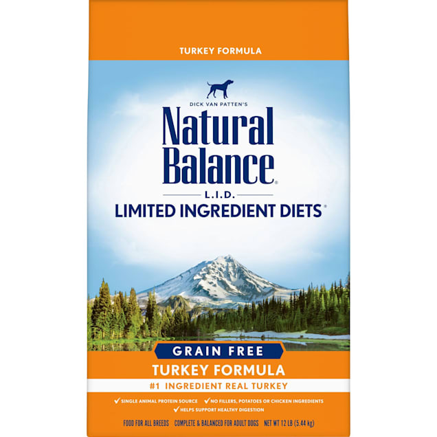 Natural Balance L.I.D. Limited Ingredient Diets High Protein Turkey Formula Dry Dog Food, 12 lbs. - Carousel image #1