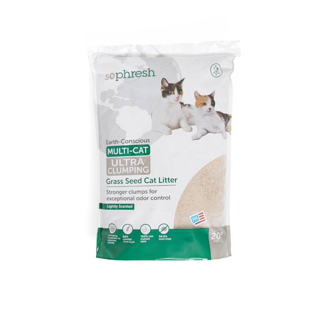 So Phresh Extreme Clumping Scented Grass Seed Cat Litter, 20 lbs. - Carousel image #1