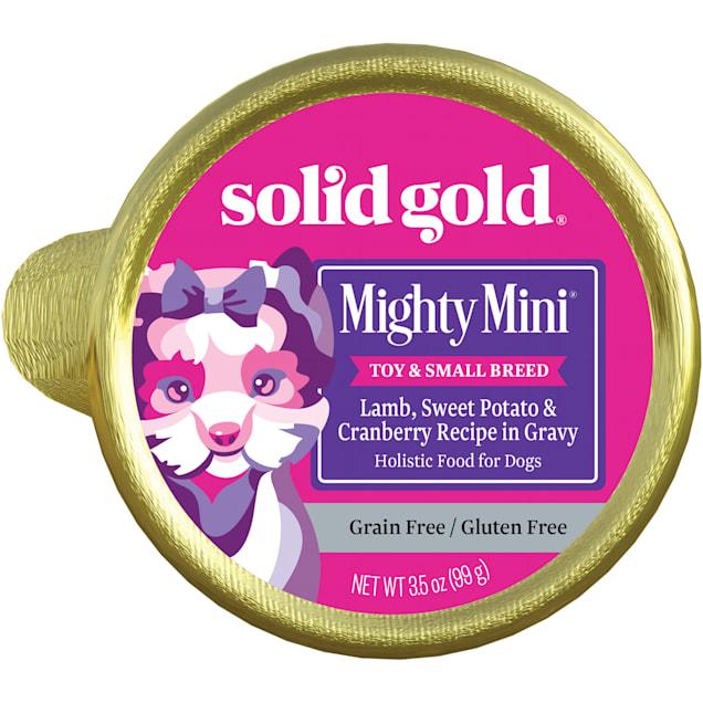 Solid Gold Mighty Mini Lamb, Sweet Potato & Cranberry Recipe Grain Free Wet Dog Food, 3.5 oz., Case of 12 - Carousel image #1