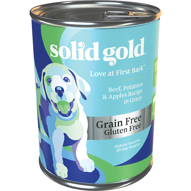 Solid Gold Love At First Bark Beef, Sweet Potato & Apple Grain Free Wet Puppy Food, 13.2 oz., Case of 6 - Carousel image #1