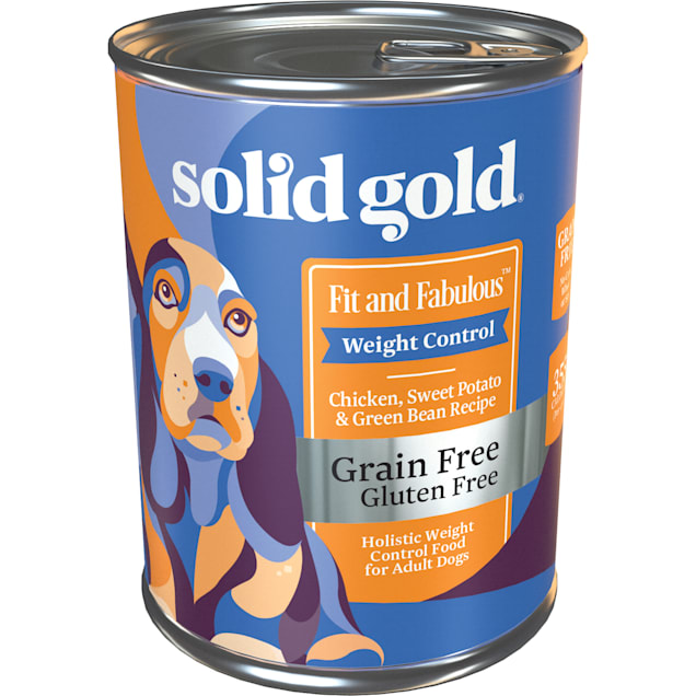 Solid Gold Fit & Fabulous Chicken, Sweet Potato & Green Bean Weight Control Grain Free Wet Dog Food, 13.2 oz., Case of 6 - Carousel image #1