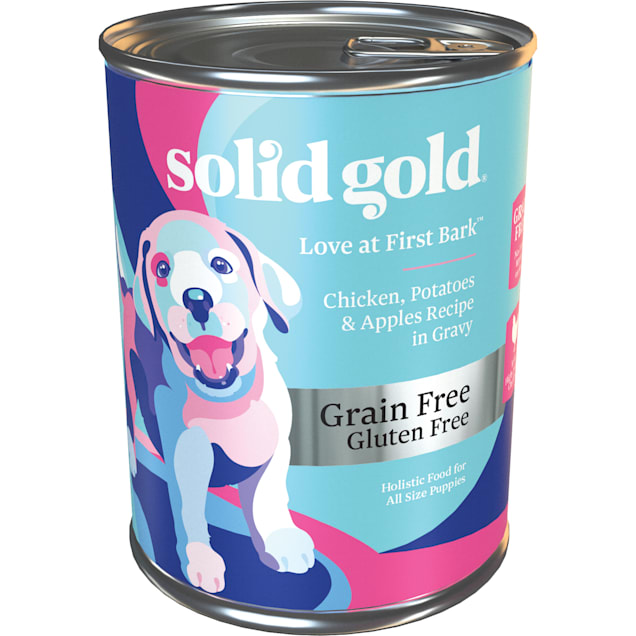 Solid Gold Love At First Bark Chicken, Sweet Potato & Apple Grain Free Wet Puppy Food, 13.2 oz., Case of 6 - Carousel image #1