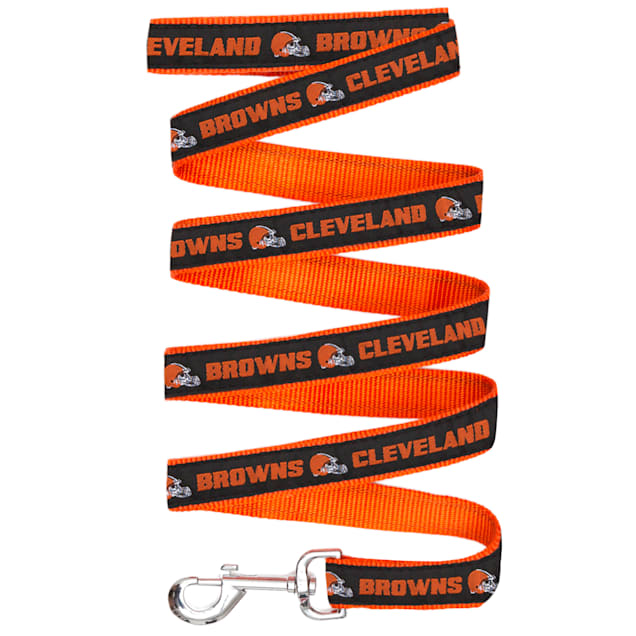 Pets First Cleveland Browns Leash, Small - Carousel image #1