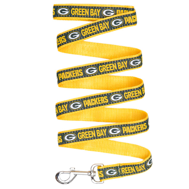 Pets First Green Bay Packers Leash, Small - Carousel image #1
