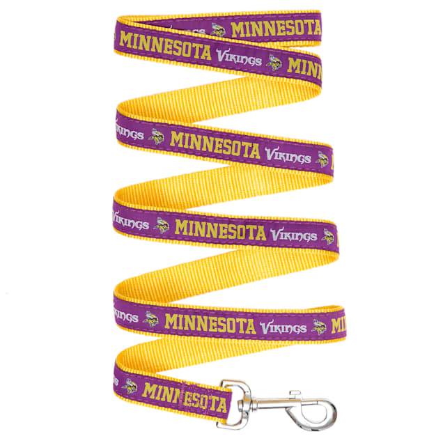 Pets First Minnesota Vikings Leash, Small - Carousel image #1