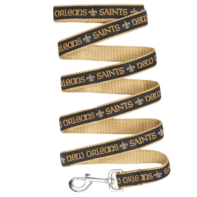 Pets First New Orleans Saints Leash, Small - Carousel image #1