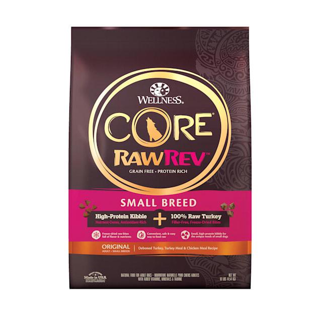 Wellness CORE RawRev Natural Grain Free Original Chicken with Freeze Dried Turkey Small Breed Dry Dog Food, 10 lbs. - Carousel image #1