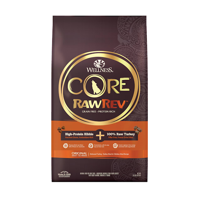 Wellness CORE RawRev Natural Grain Free Original Chicken with Freeze Dried Turkey Dry Dog Food, 20 lbs. - Carousel image #1