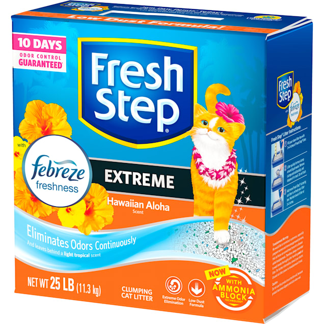 Fresh Step Extreme Hawaiian Aloha Scented Clumping Cat Litter with the Power of Febreze, 25 lbs. - Carousel image #1
