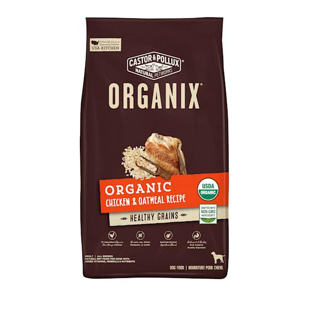 Castor & Pollux Organix Organic Chicken & Oatmeal Recipe Dry Dog Food, 10 lbs. - Carousel image #1