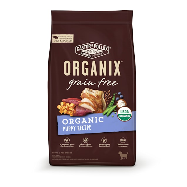 Castor & Pollux Organix Grain Free Organic Puppy Recipe Dry Dog Food, 10 lbs. - Carousel image #1